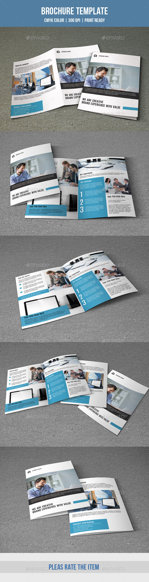 GraphicRiver Bifold Business Brochure-V171 9712155