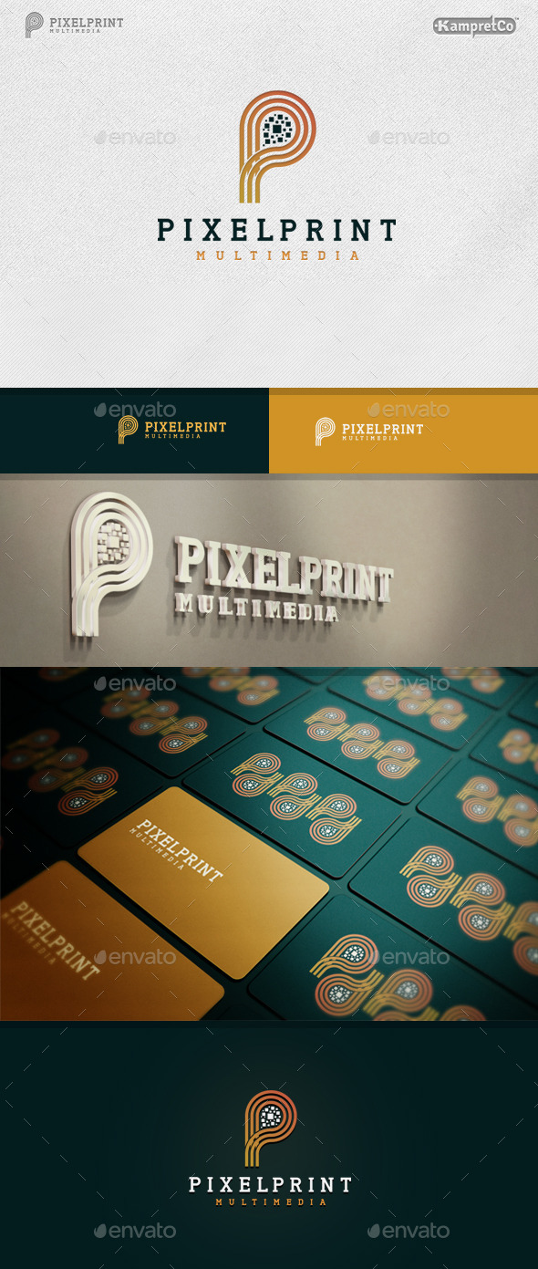 GraphicRiver Pixel Print logo 9680868