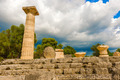 The Temple of Zeus ruins in ancient Olympia, Peloponnes, Greece - PhotoDune Item for Sale