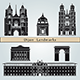 Dijon Landmarks and Monuments - GraphicRiver Item for Sale