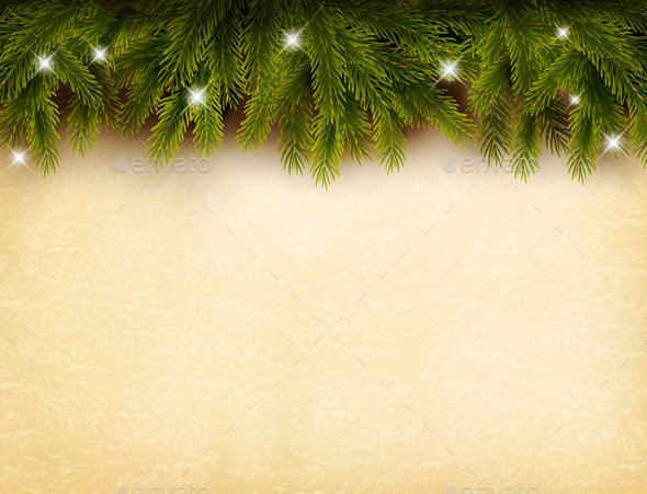 GraphicRiver Christmas Branches Background 9712931