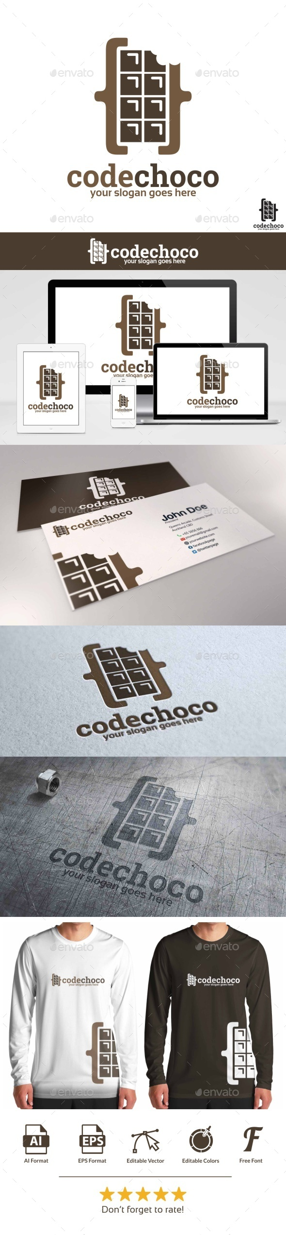 GraphicRiver Code Choco Logo 9712984