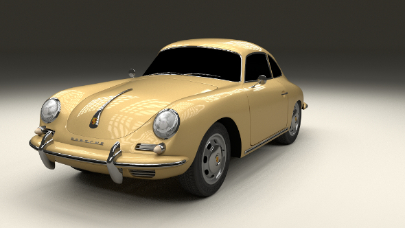 Porsche 356 Coupe - 3DOcean Item for Sale