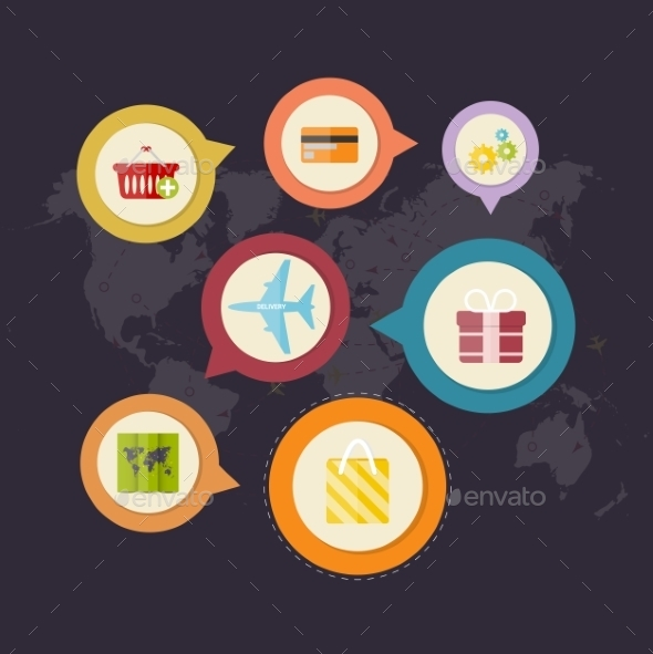 GraphicRiver Infographics Purchase and Delivery of Goods 9713231