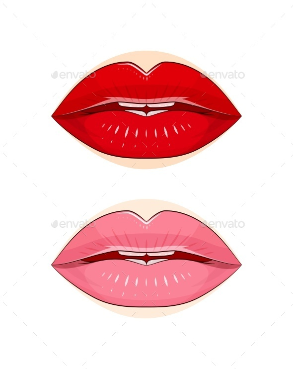 GraphicRiver Lips with Pomade 9713243