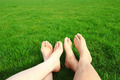 Couple Relax barefoot enjoy nature - PhotoDune Item for Sale