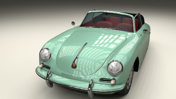 Porsche 356 Convertible - 3DOcean Item for Sale