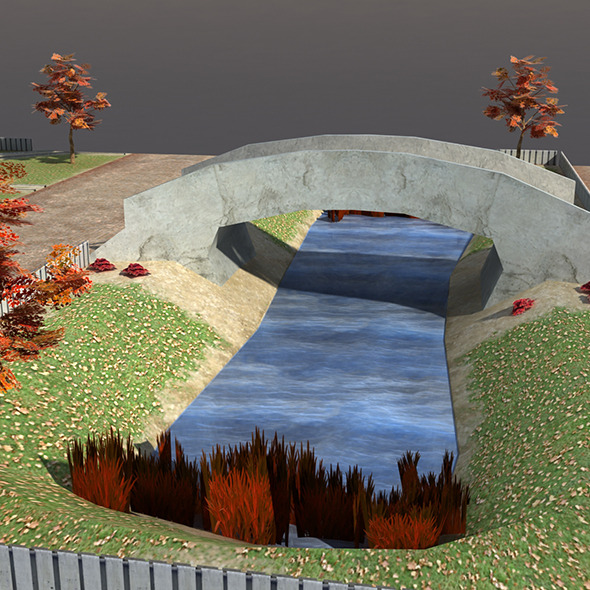 3DOcean Low poly Park Autumn 9713328
