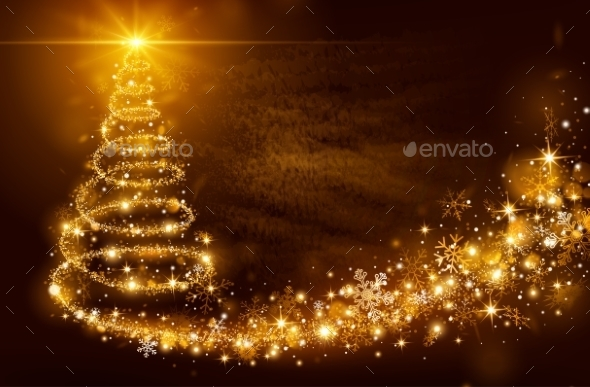 GraphicRiver Christmas Magic Tree 9713383