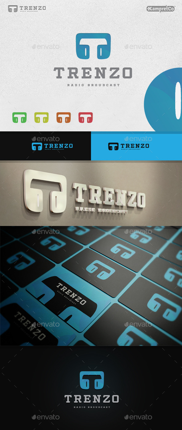 GraphicRiver T Radio Logo 9680812