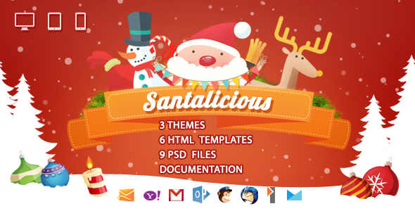 Santalicious - Responsive Email Template