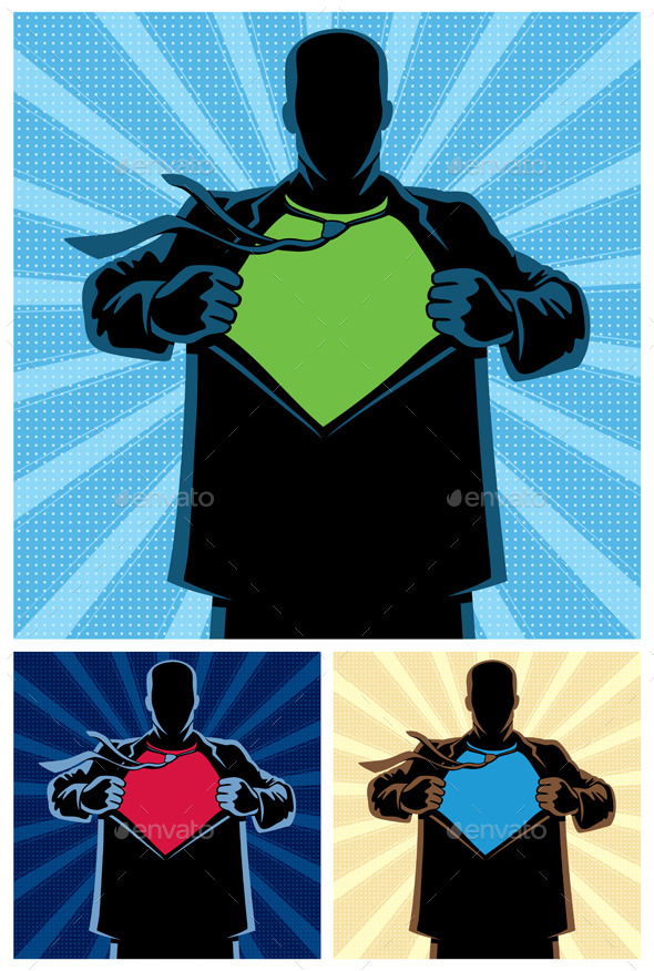 GraphicRiver Superhero Under Cover 9713396