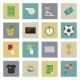 Soccer Flat Icons Set - GraphicRiver Item for Sale