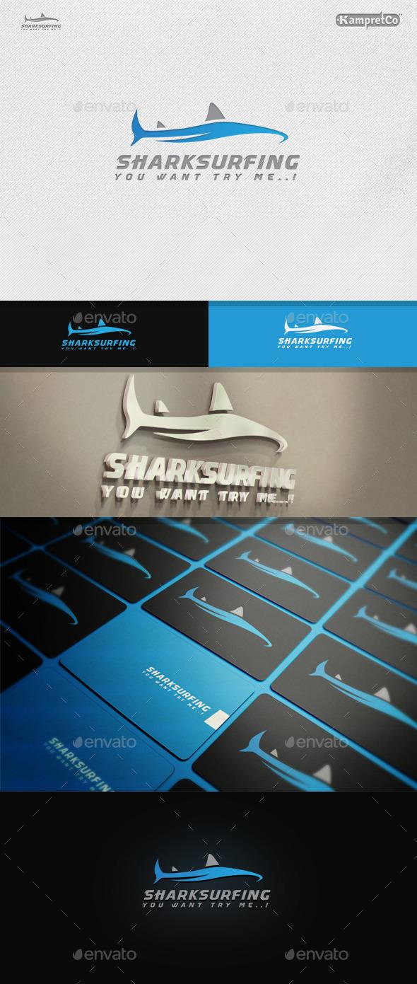 Shark Surfing Logo
