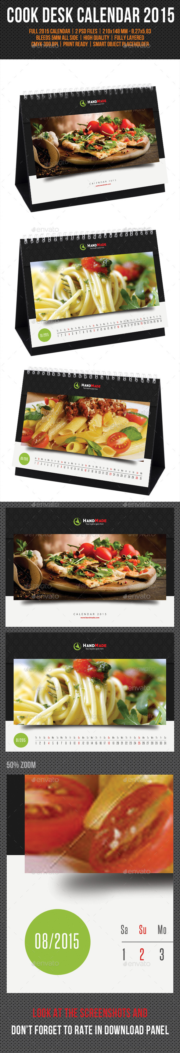 GraphicRiver Cook And Food Desk Calendar 2015 V02 9713480