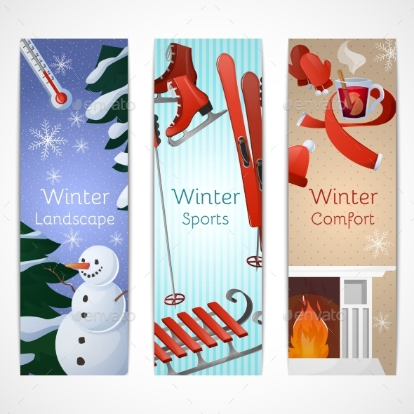 GraphicRiver Winter Banners Set 9713525