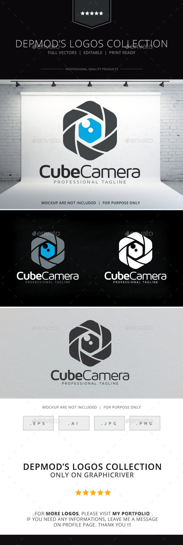 GraphicRiver Cube Camera Logo 9713765