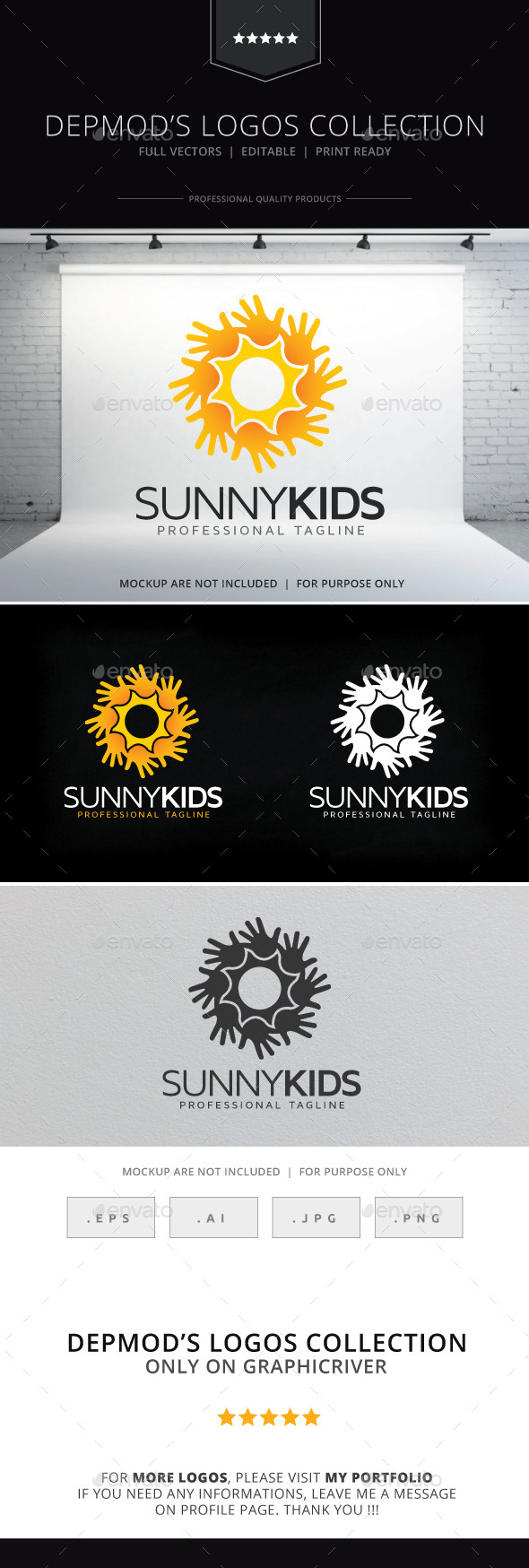 GraphicRiver Sunny Kids Logo 9713876