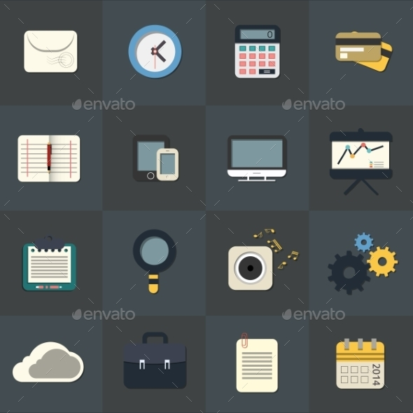 GraphicRiver Flat Icons for Web and Mobile Applications 9713900