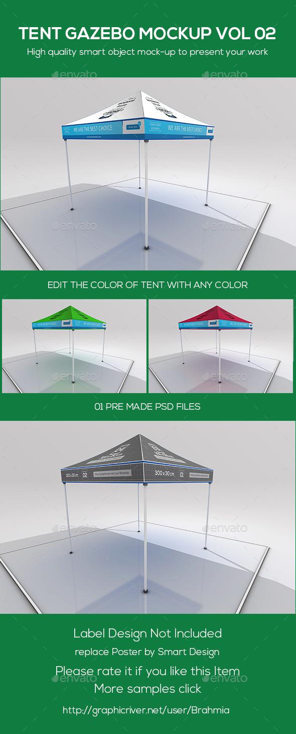 GraphicRiver Tent Gazebo Mockup Vol 02 9713915