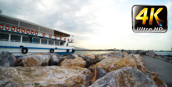 VideoHive Ferryboat and Rocks 9714022