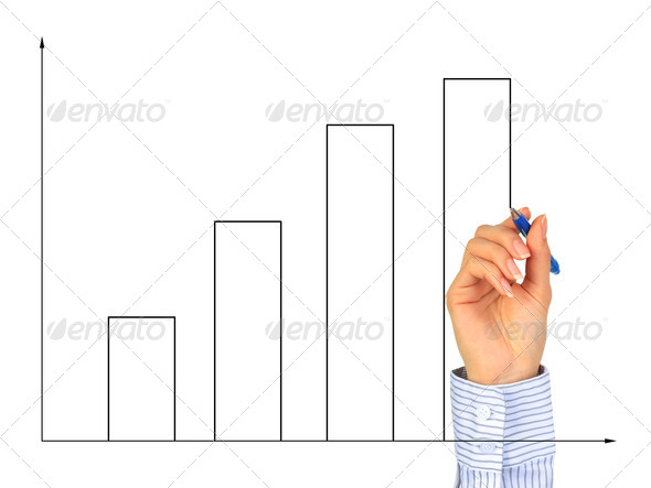 Hand drawing diagram. - Stock Photo - Images