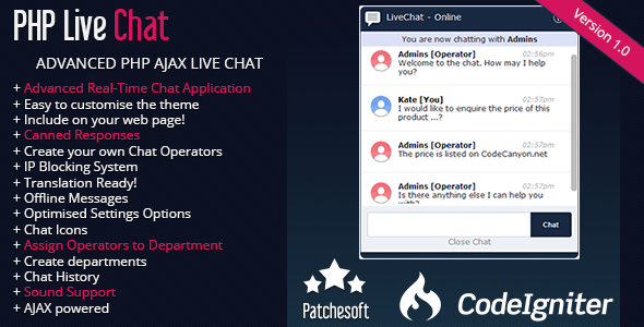 CodeCanyon Live Chat PHP AJAX Real Time Chat System 9714157