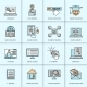 Online Education Icons Set - GraphicRiver Item for Sale