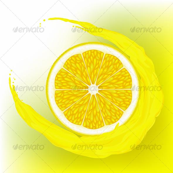 GraphicRiver Lemon with a wave juice 123490
