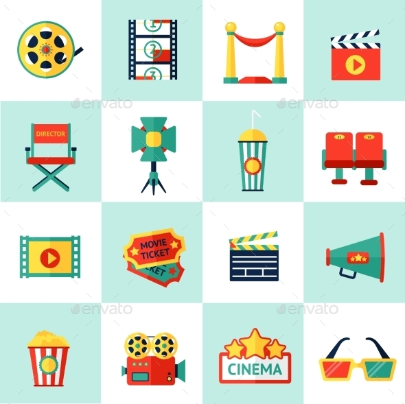 GraphicRiver Cinema Icon Set 9714339