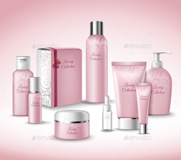 GraphicRiver Cosmetic Packages Set 9714374