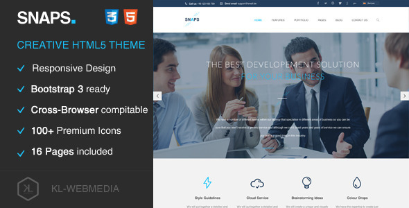 ThemeForest Snaps Creative HTML5 Template 9646938