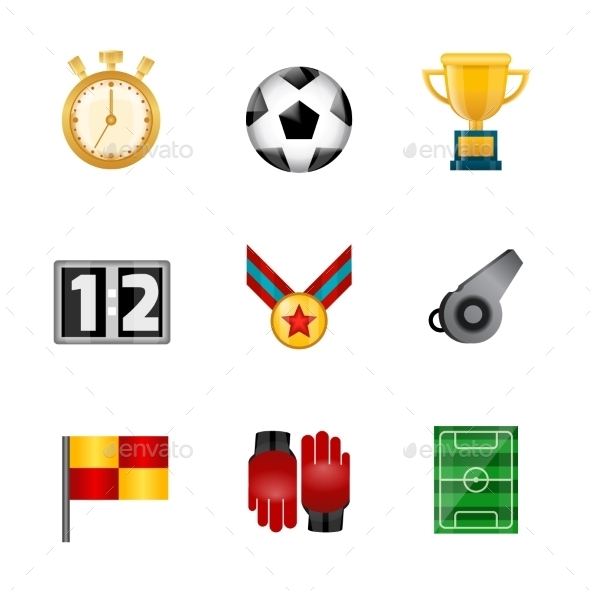GraphicRiver Soccer Realistic Icons 9714436