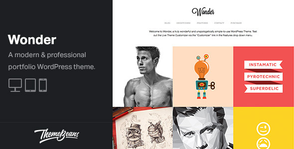 Wonder - Professional WordPress Portfolio Theme