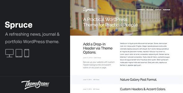 Spruce - A Responsive Blog & Portfolio Theme