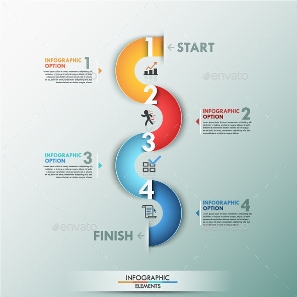 GraphicRiver Modern Infographic Process Template 9714628