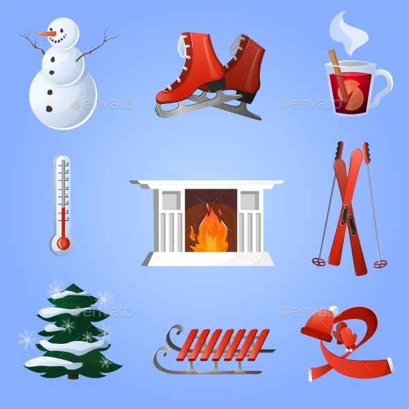 GraphicRiver Winter Icons Set 9714633