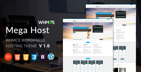 Megahost Hosting Wordpress Theme with WHMCS