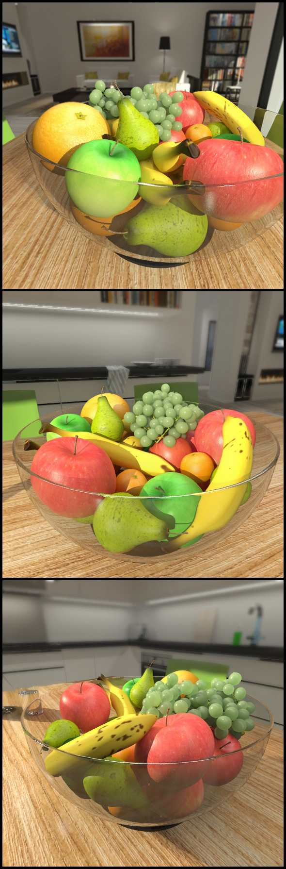 3DOcean Bowl of fruit 9702552