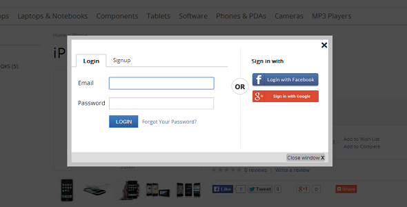 CodeCanyon Awesome Facebook Google Login Registration Popup 9669095