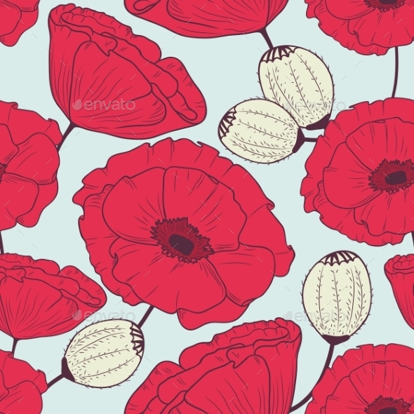 GraphicRiver Poppy Pattern 9715159