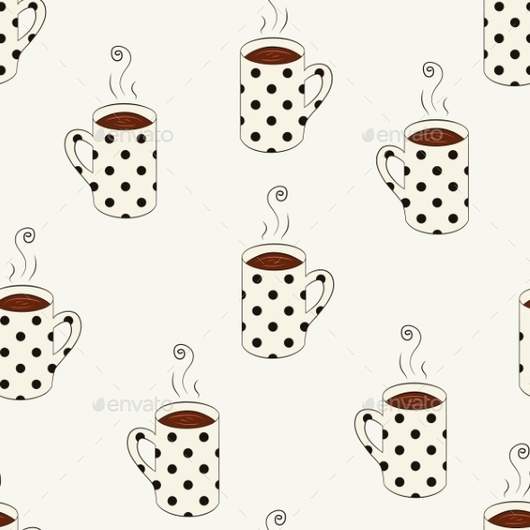 GraphicRiver Dotted Cups Pattern 9715503