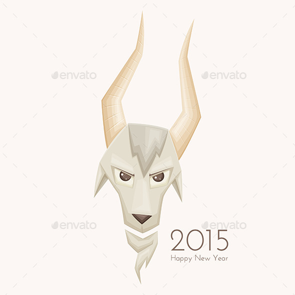 GraphicRiver Goat with Straight Horns 9649521