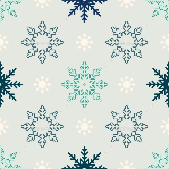 GraphicRiver Snowflake Pattern 9715659