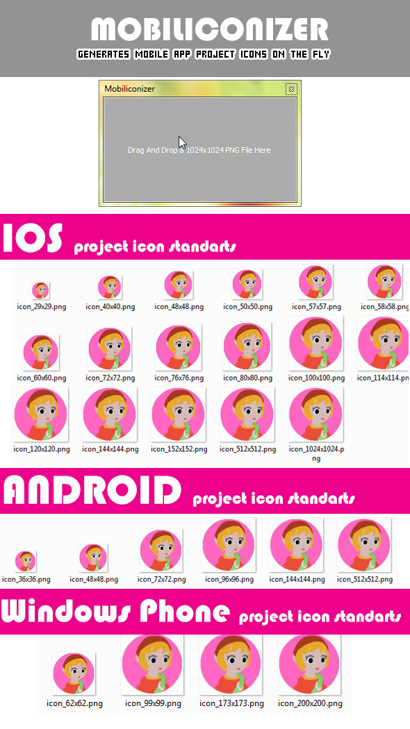 CodeCanyon Mobiliconizer generate mobile app icons onthefly 9715704