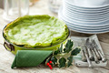 Green Lasagna Decorated For Christmas - PhotoDune Item for Sale
