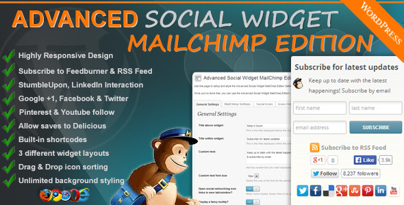 Advanced Social Widget MailChimp Edition