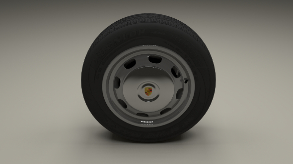 Porsche 356 Wheel - 3DOcean Item for Sale