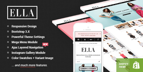 ThemeForest Ella Responsive Shopify Template 9691007