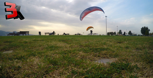VideoHive Practice with Parachute in Nature 1 9716510